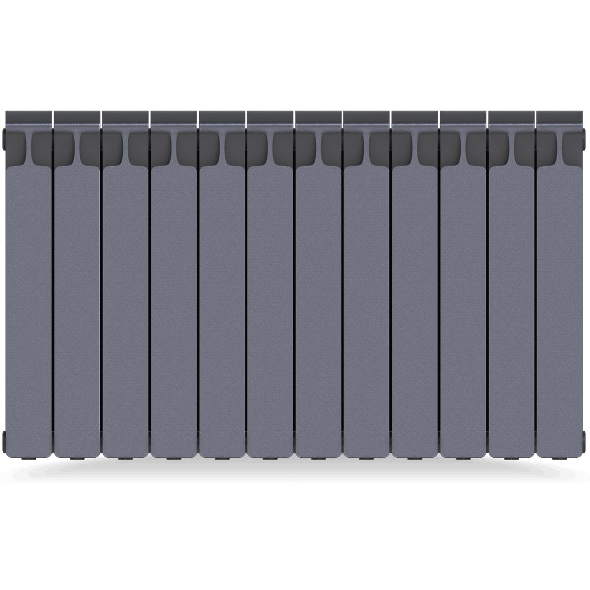 Радиатор Rifar Monolit 500 12 секций цвет серый биметалл