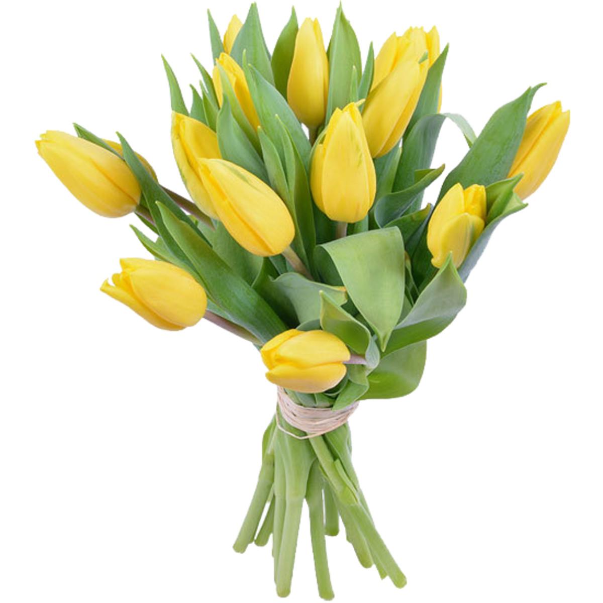 Букет Тюльпаны микс 15 шт