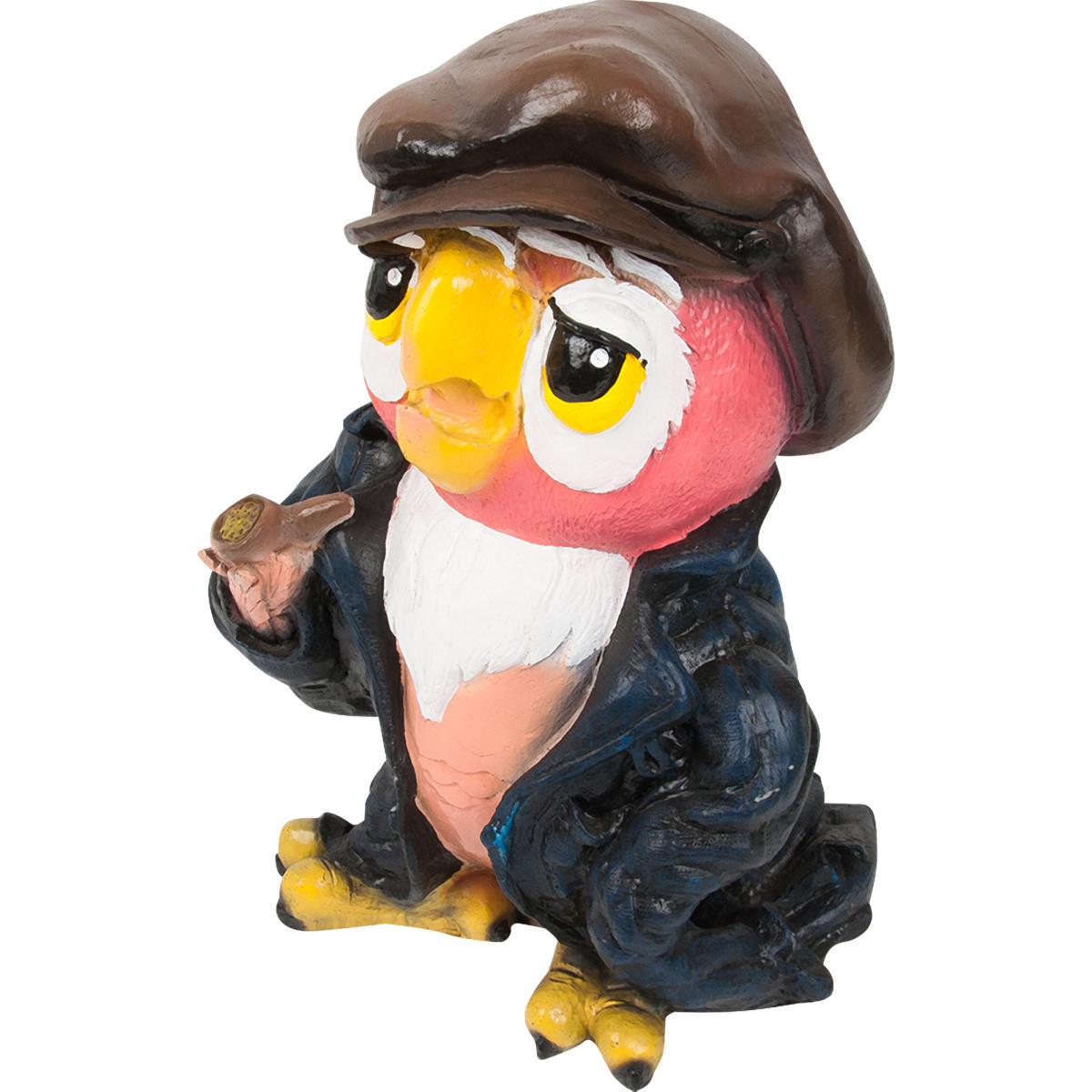 Фигура садовая Попугай в пиджаке 38x24 см