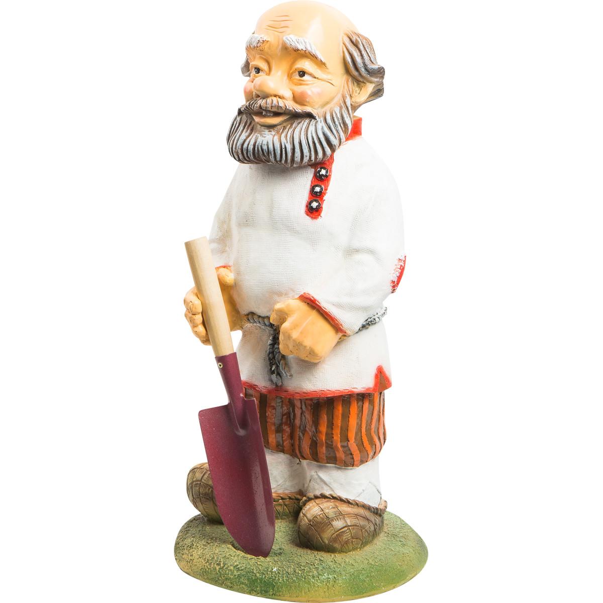 Фигура садовая Дед с лопатой 63x29x28 см