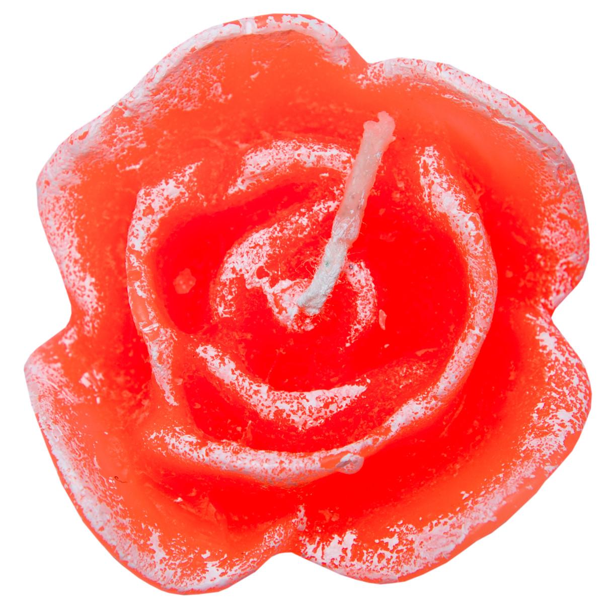 Свеча роза сердечко