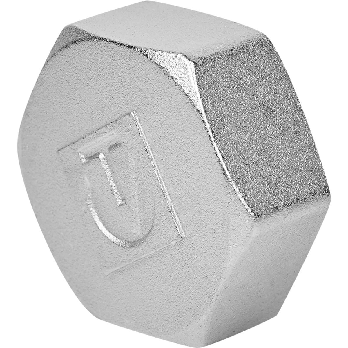 Заглушка Valtec 1 1/2 внутренняя резьба никелированная латунь