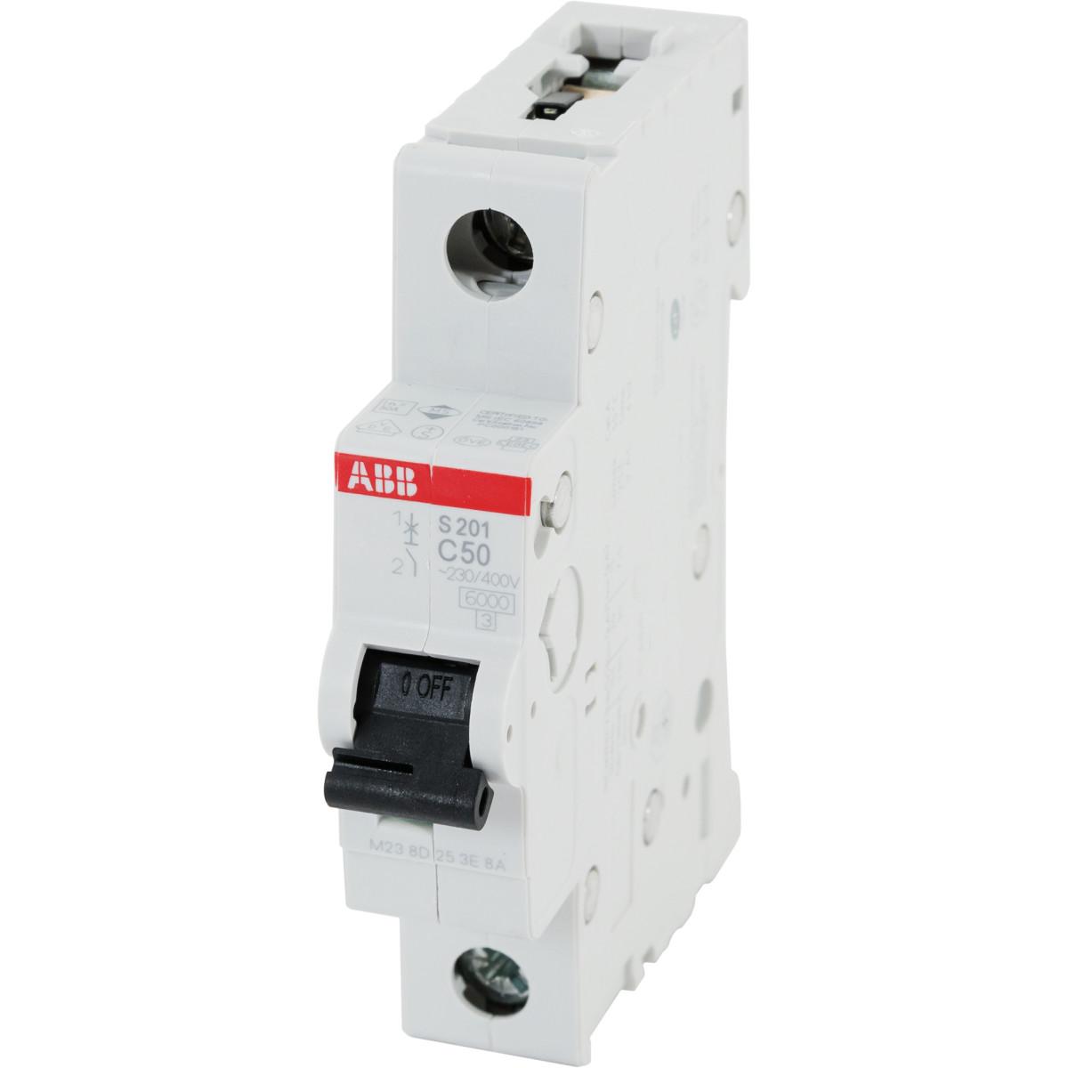 Выключатель автоматический ABB S201 1 полюс 50 А C