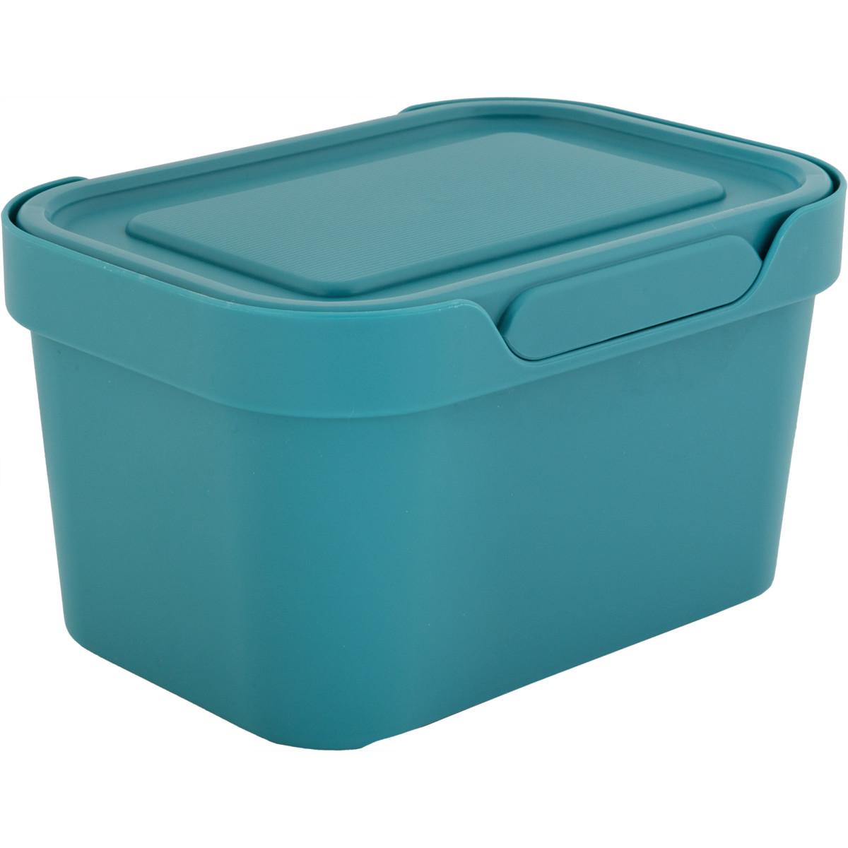 Ящик LUXE с крышкой 190х130х110 мм 19 л пластик цвет голубой
