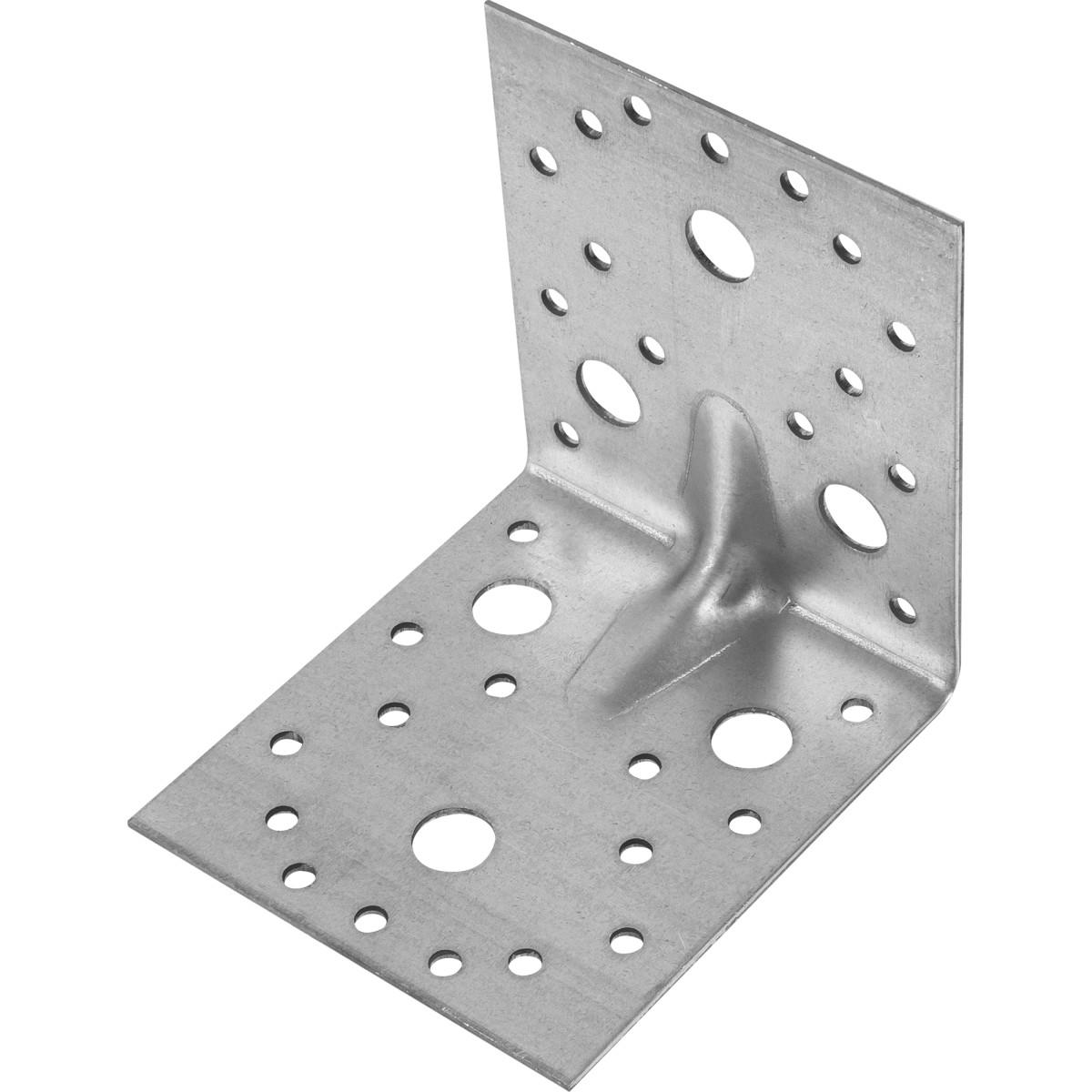 Уголок крепежный усиленный оцинкованный 105x105x90x2 мм 10 шт.