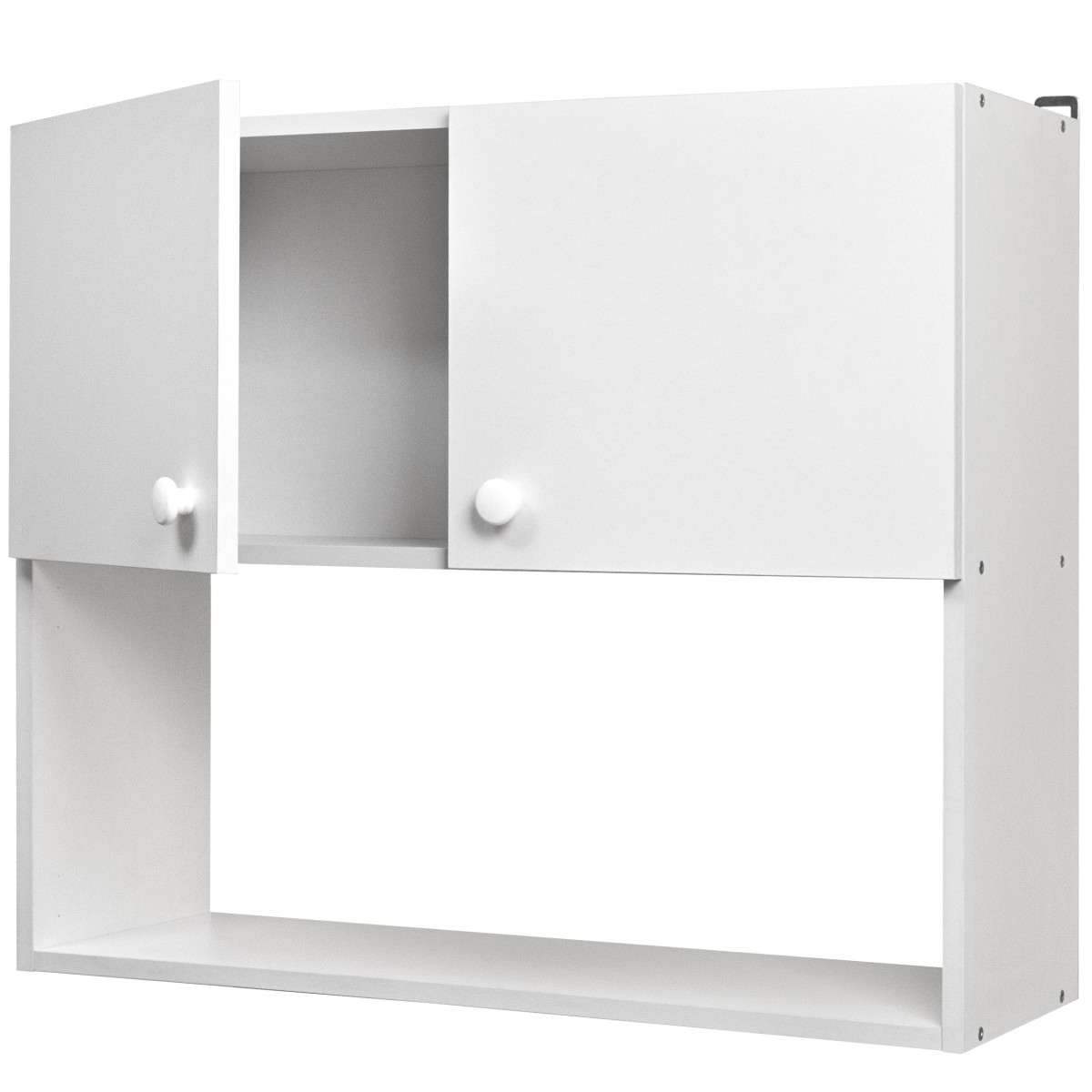 Шкаф навесной Бэлла 80x67.6х29 см ЛДСП цвет белый