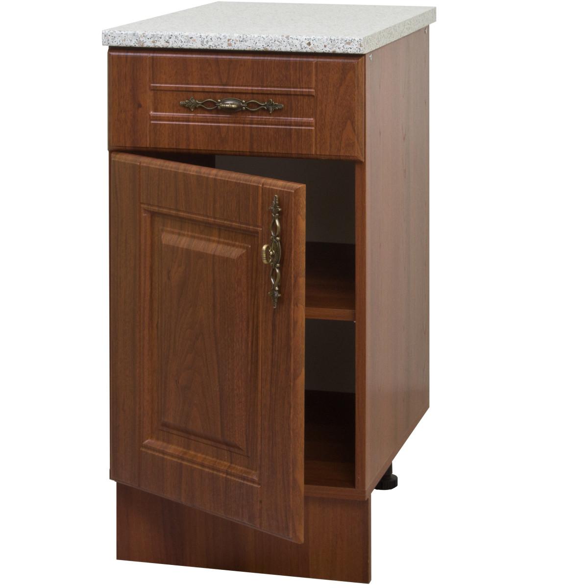 Шкаф напольный Орех с 1 ящиком 40х83.7х60 см цвет темный орех