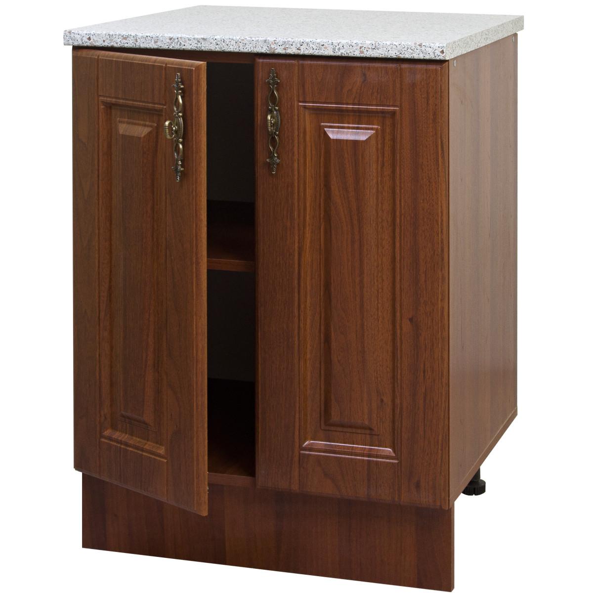 Шкаф напольный Орех 60х83.7х60 см цвет темный орех