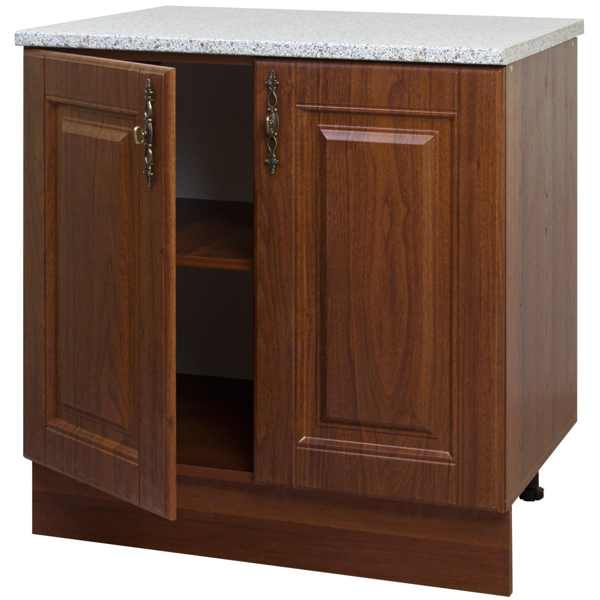 Шкаф напольный Орех 80х83.7х60 см цвет темный орех