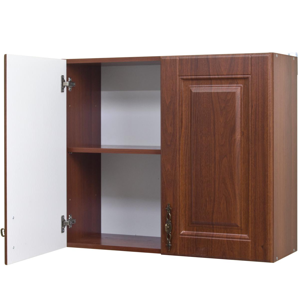 Шкаф навесной Орех 80х676х29 см цвет темный орех