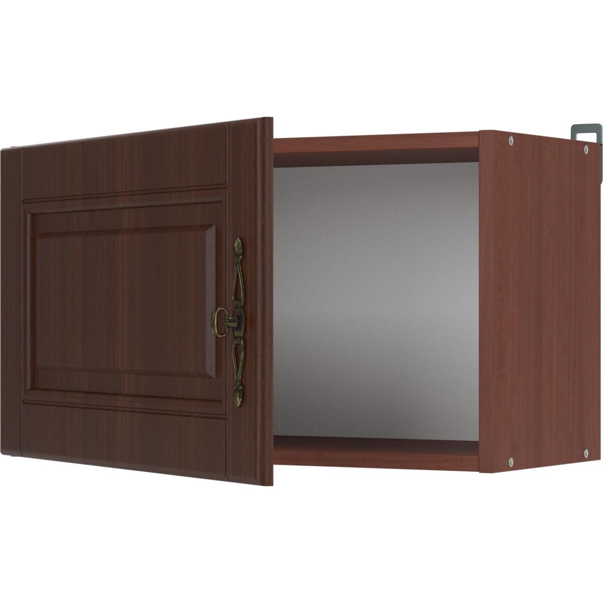 Шкаф навесной над вытяжкой Орех 60х35х29 см цвет темный орех
