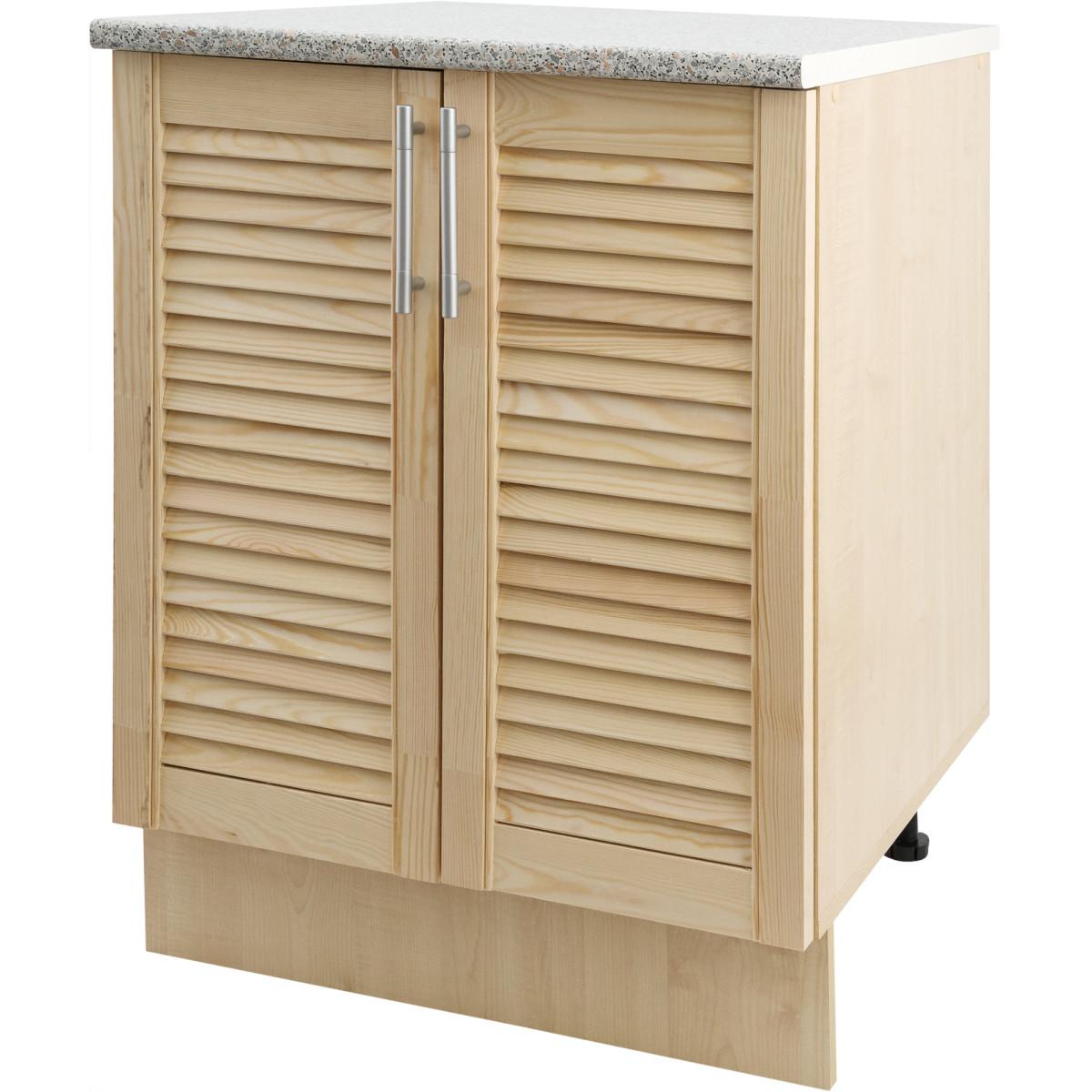 Шкаф напольный Сосна массив 60x86x60 см ЛДСП