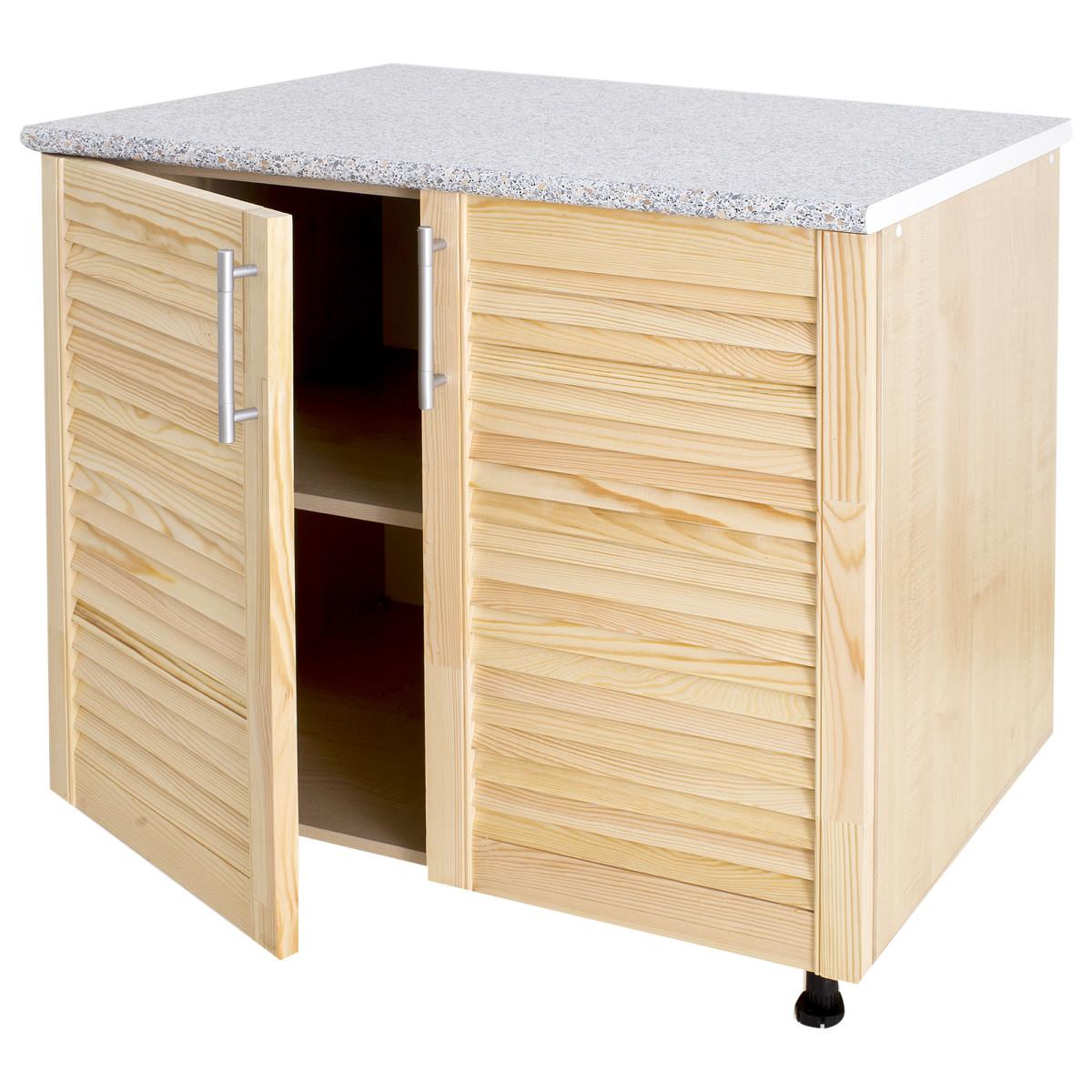 Шкаф напольный Сосна массив 80x86x60 см ЛДСП цвет бежевый