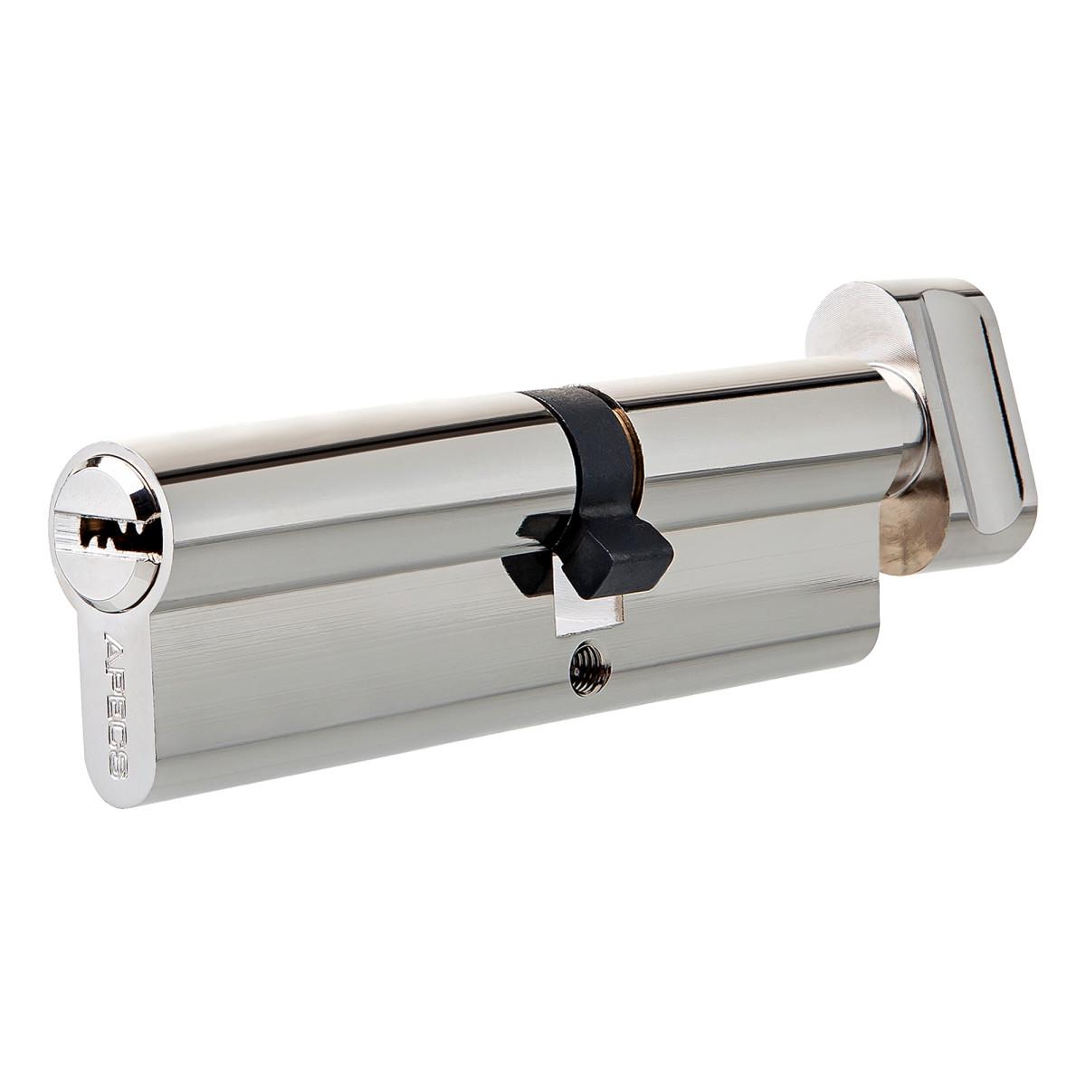 Цилиндр Apecs SM-90 35х55 мм ключ/вертушка цвет никель