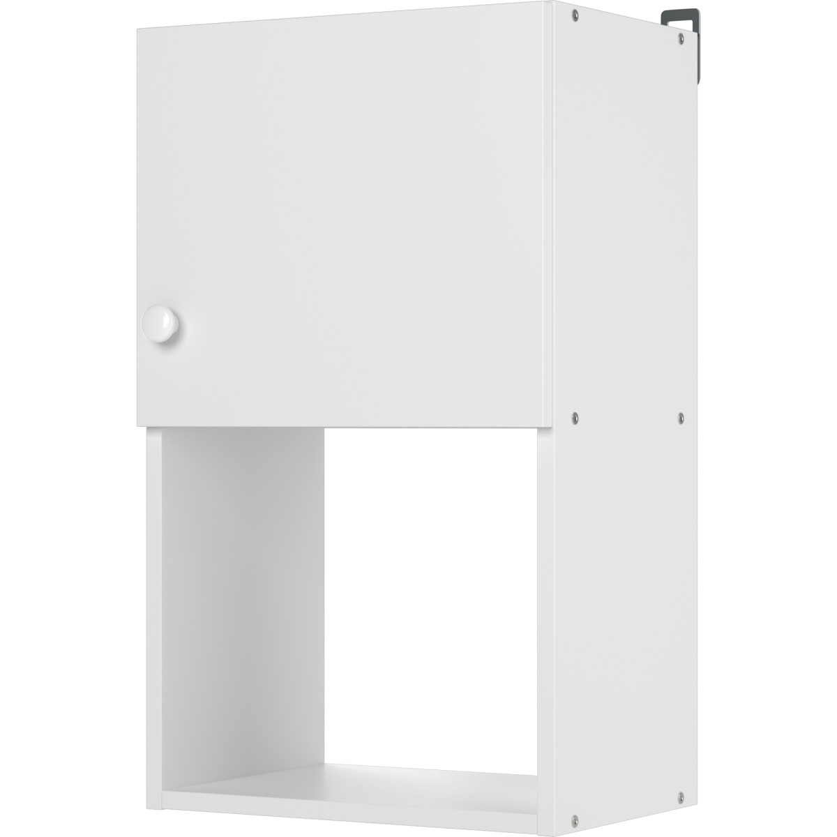 Шкаф навесной Бэлла 40x67.6x29 см ЛДСП цвет белый