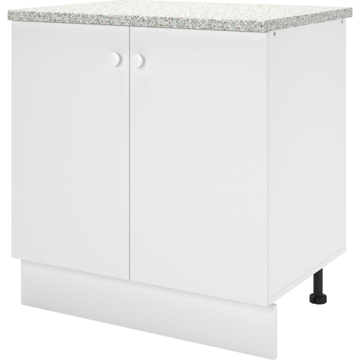 Шкаф напольный Бэлла 80x84x60 см ЛДСП цвет белый