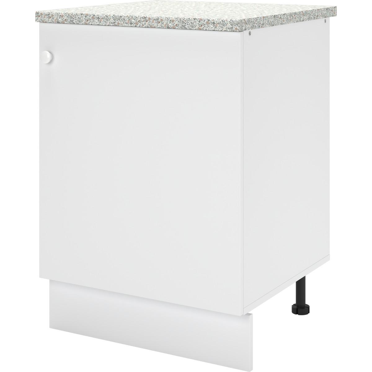 Шкаф напольный Бэлла 60x84x60 см ЛДСП цвет белый