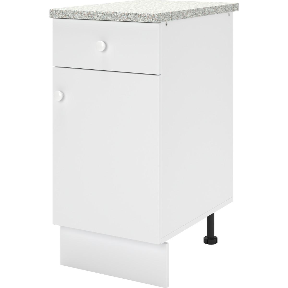 Шкаф напольный Бэлла 40x84x60 см ЛДСП цвет белый