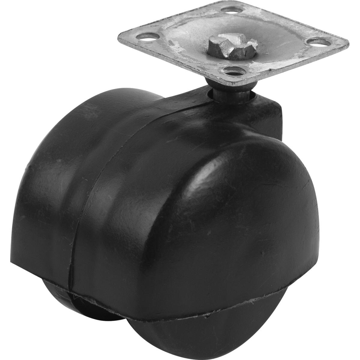 Колесо для мебели поворотное без тормоза 50 мм до 70 кг