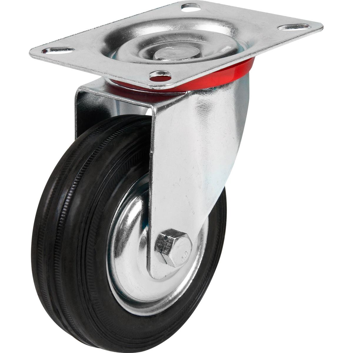 Колесо промышленное поворотное без тормоза 100 мм до 70 кг цвет цинк