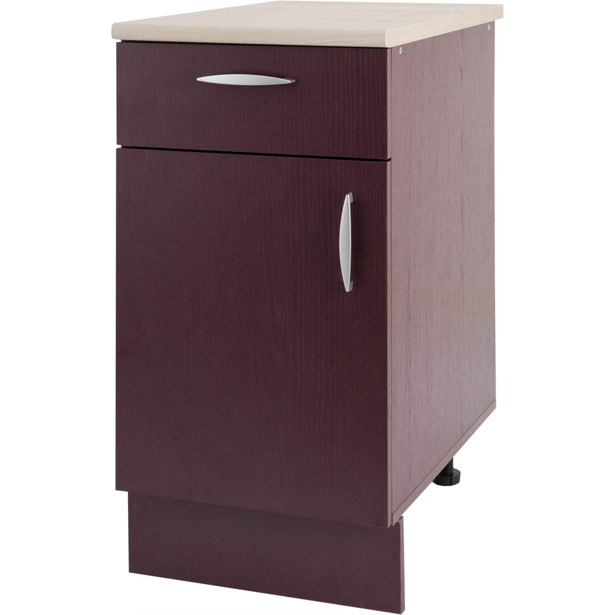 Шкаф напольный Delinia Бургун 40x85.2х60 см ЛДСП цвет бургун