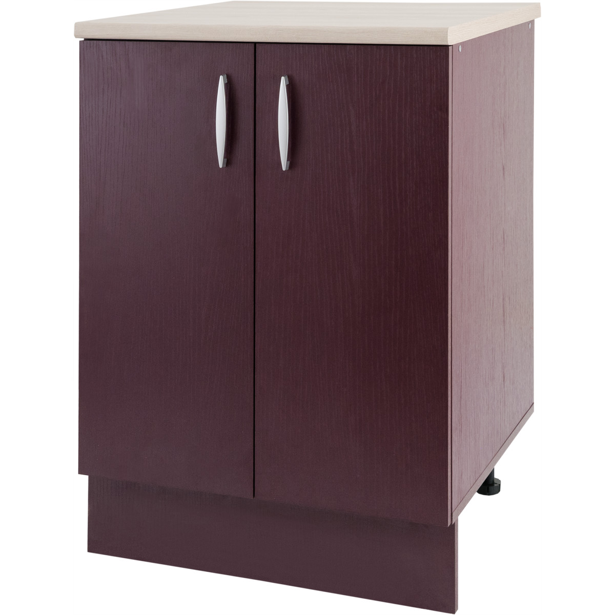Шкаф напольный Бургун 60x85.2х60 см ЛДСП цвет бургун