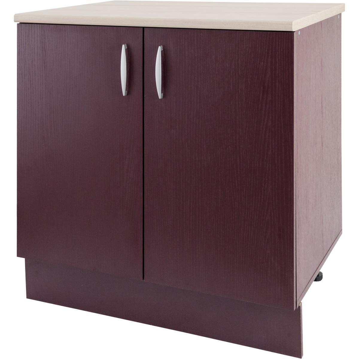Шкаф напольный Бургун 80x85.2 см ЛДСП цвет бургун