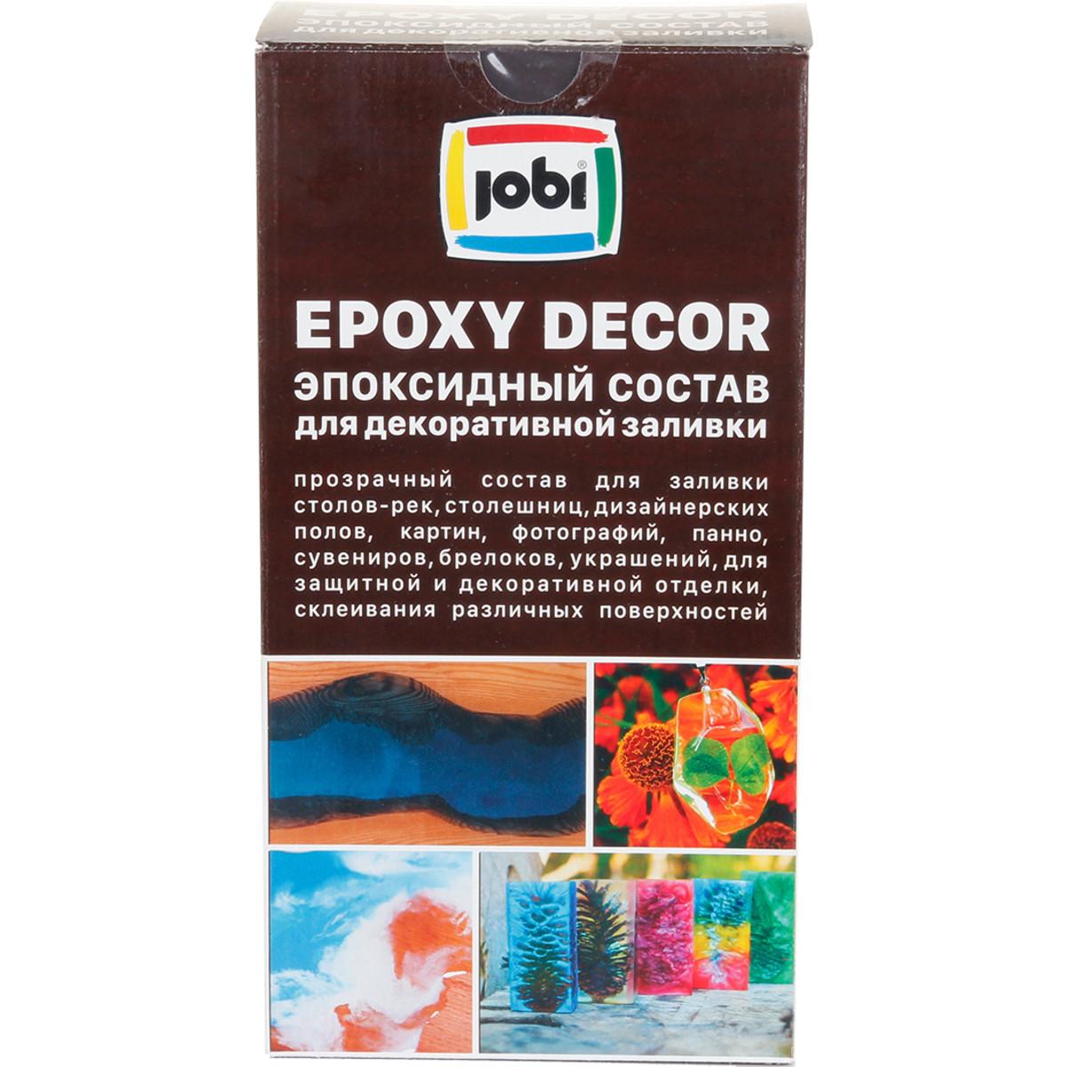 Состав эпоксидный Jobi  для декоративной заливки 1.35 кг