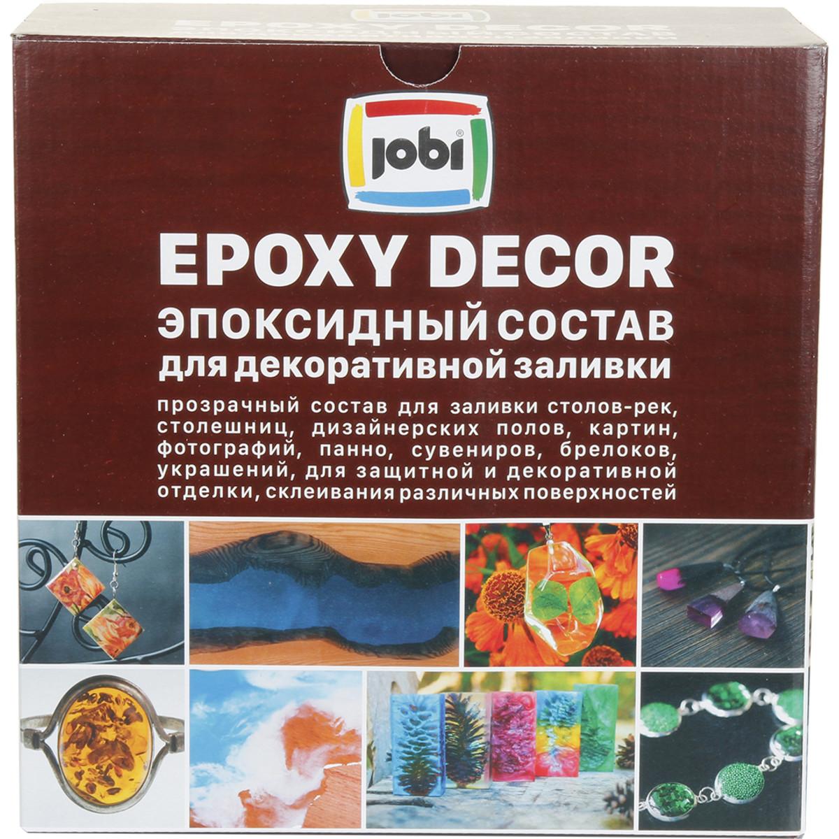 Состав эпоксидный Jobi для декоративной заливки 4.05 кг