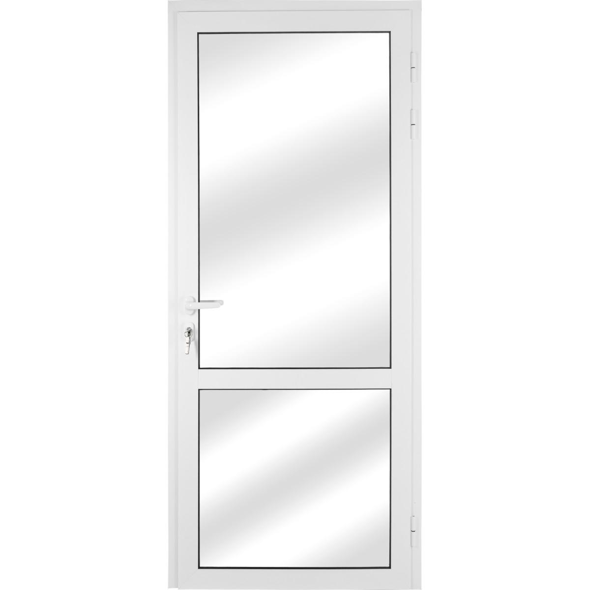 Алюминиевое ограждение балкона правое 210x90 см белый