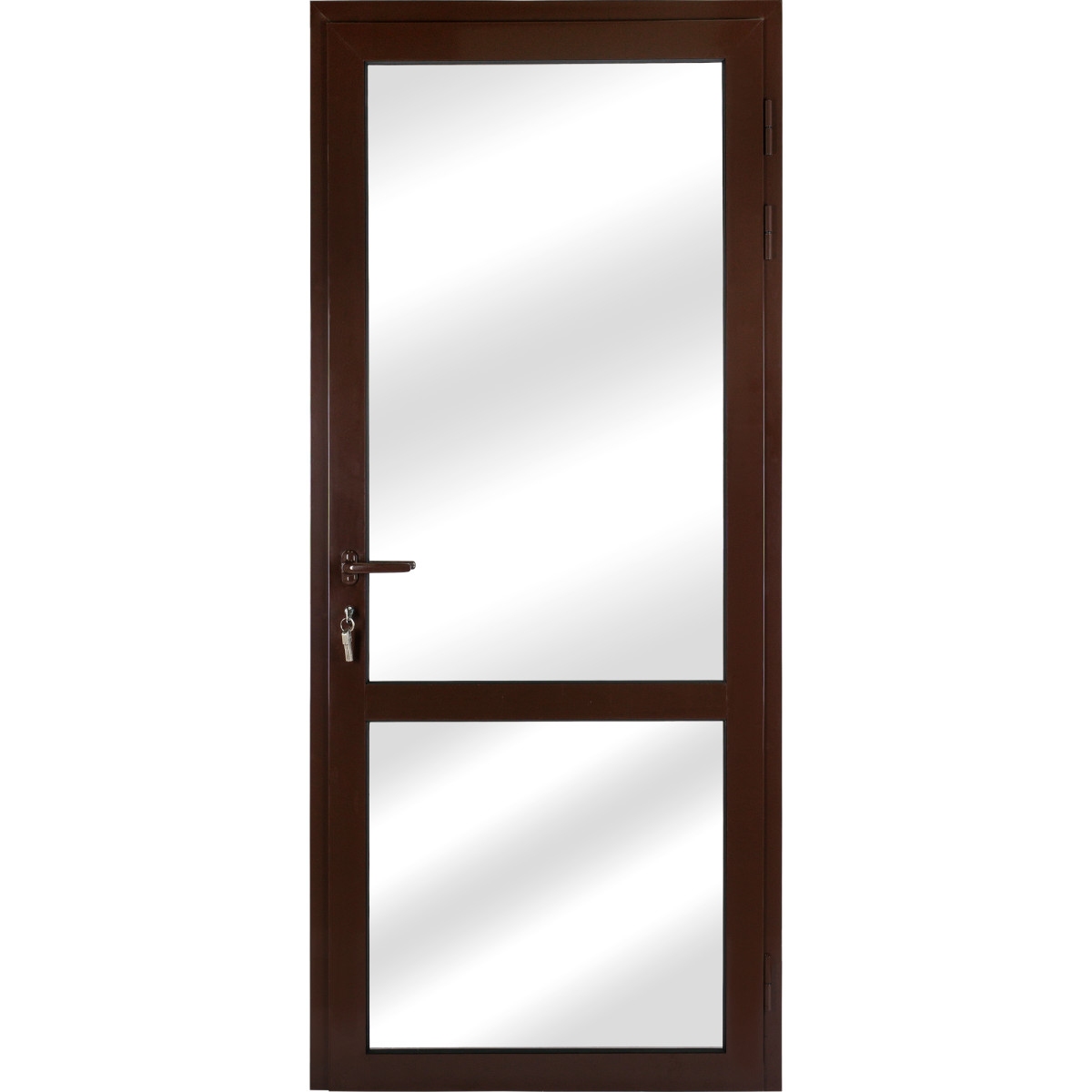 Алюминиевое ограждение балкона правое 210x90 см коричневый