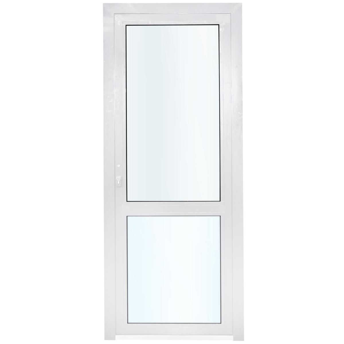 Алюминиевое ограждение балкона левое 210x90 см белый