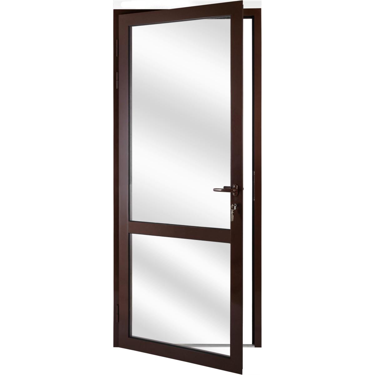 Алюминиевое ограждение балкона левое 210x90 см коричневый
