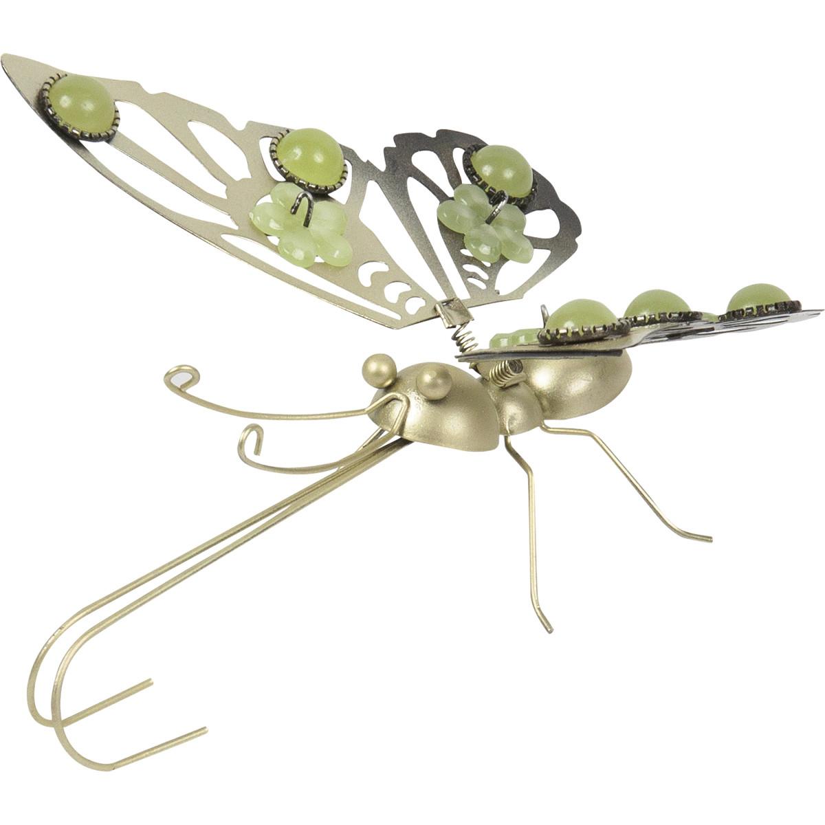 Фигура садовая «Бабочка светящаяся» высота 15 см
