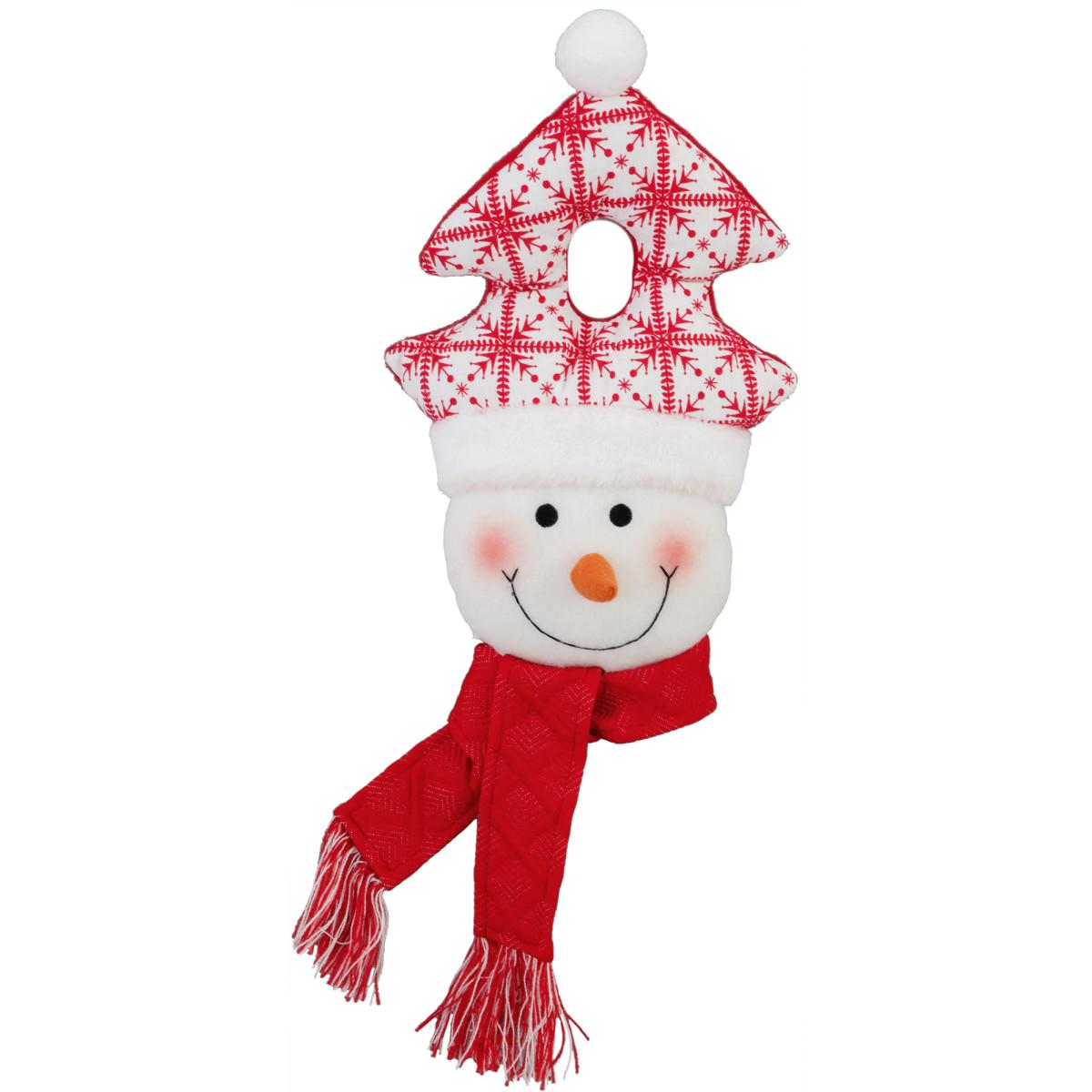 Фигурка декоративная на дверь «Снеговик» 28 см
