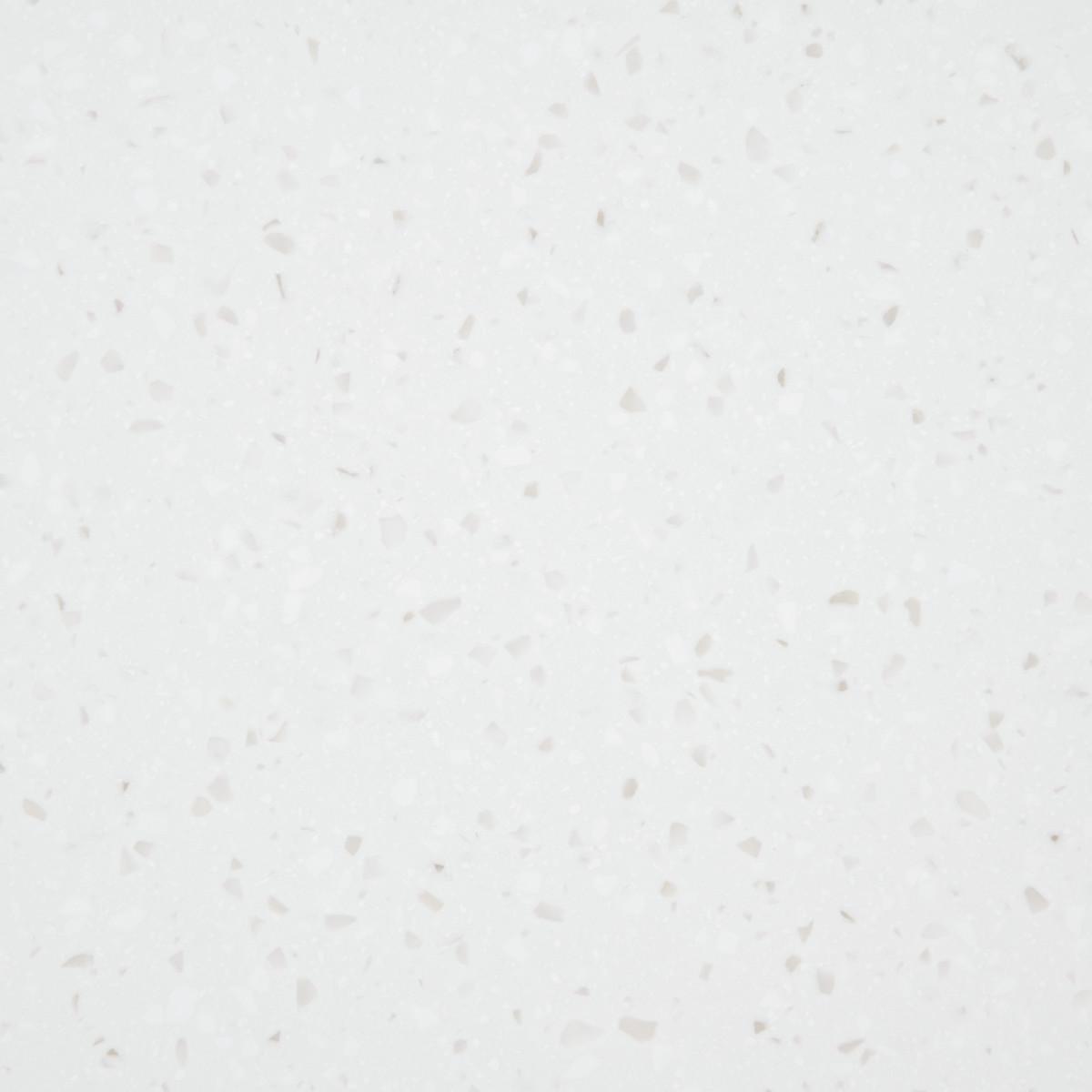 Столешница 120х60х2.2 см искусственный камень цвет белый