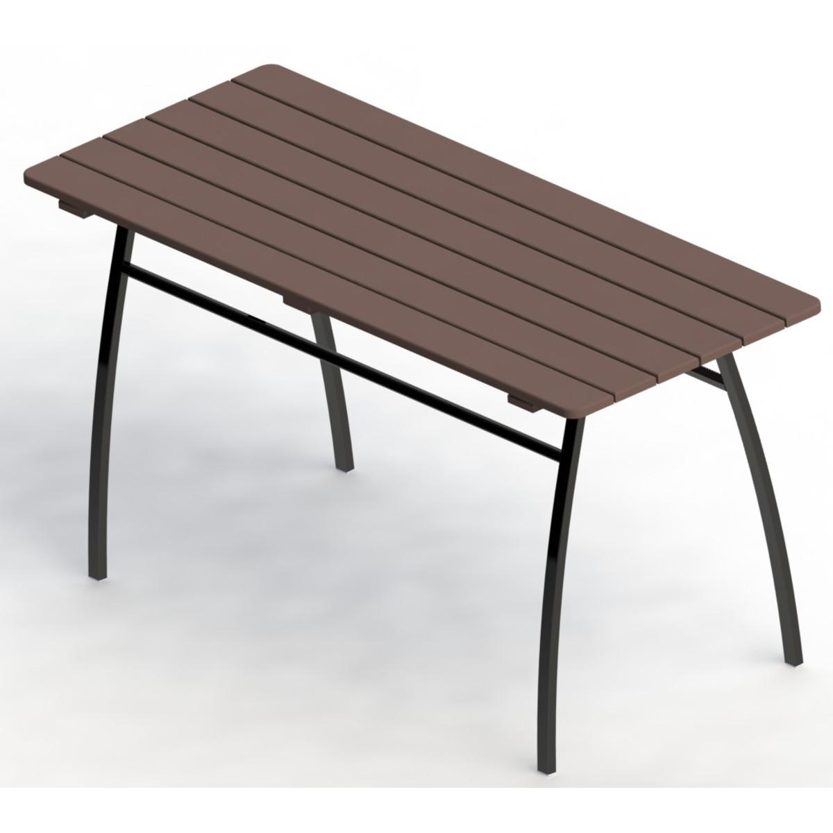 Стол садовый разборный Garden 146х75х60 см металл/дерево каштановый