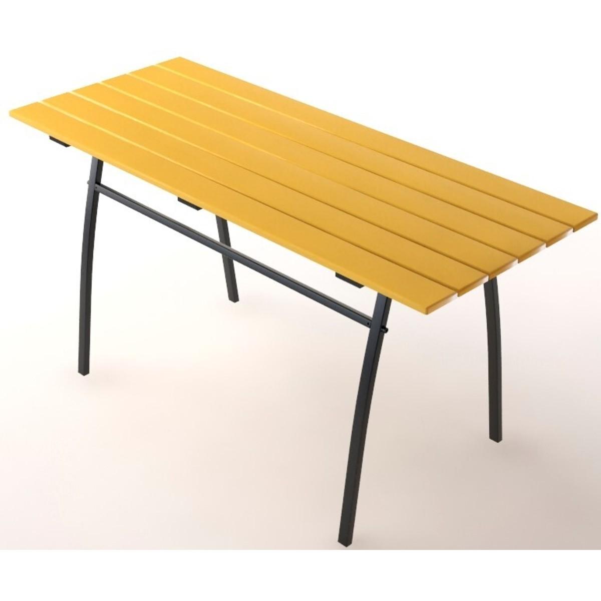 Стол садовый разборный Garden металл/дерево цвет сочный абрикос