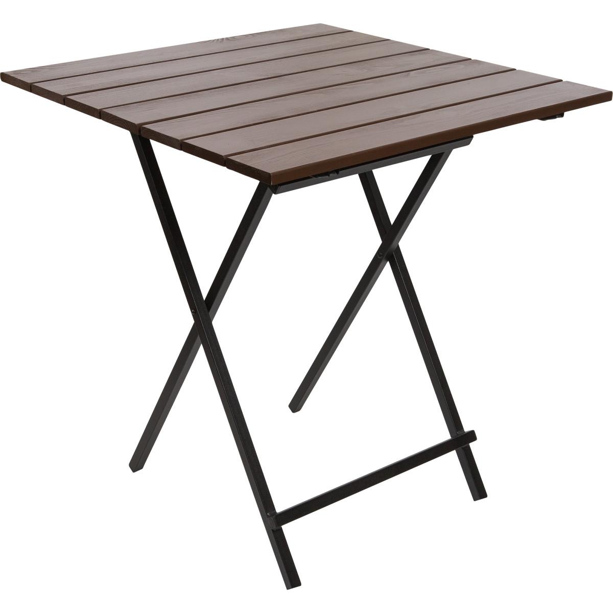 Стол садовый складной Quadro металл/дерево цвет каштан