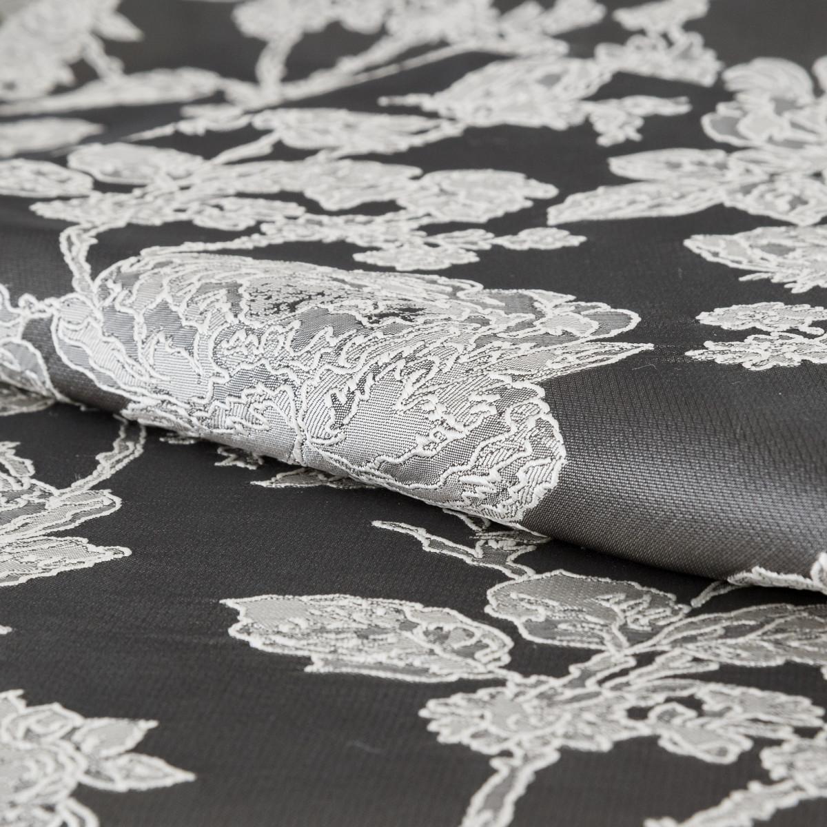 Ткань Мерида 290 см растения цвет серый