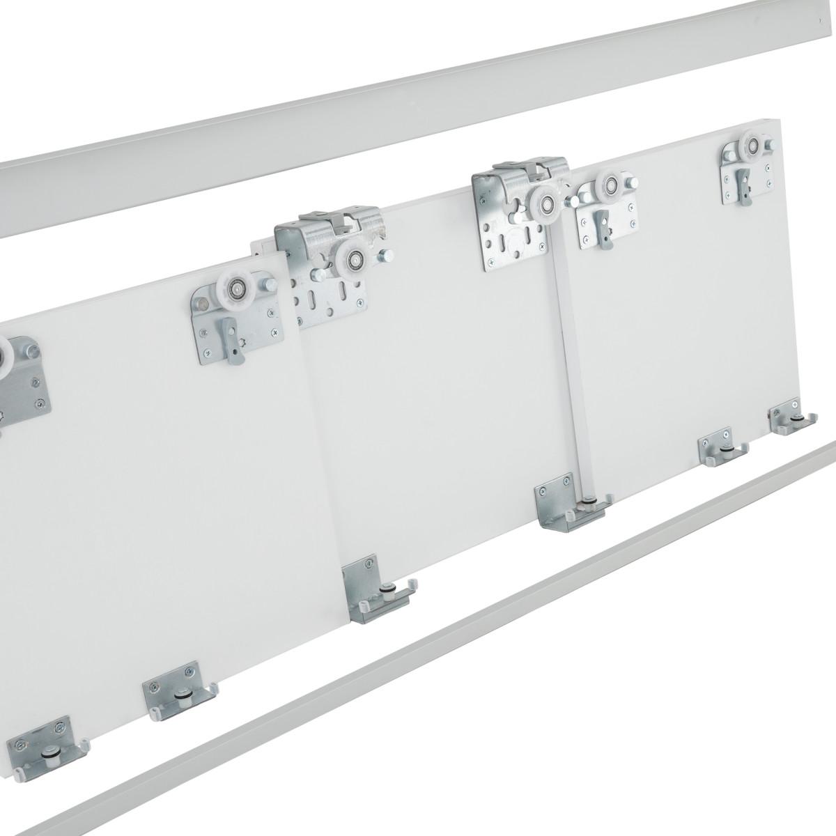Комплект направляющих для трёх дверей «Лион» цвет матовое серебро