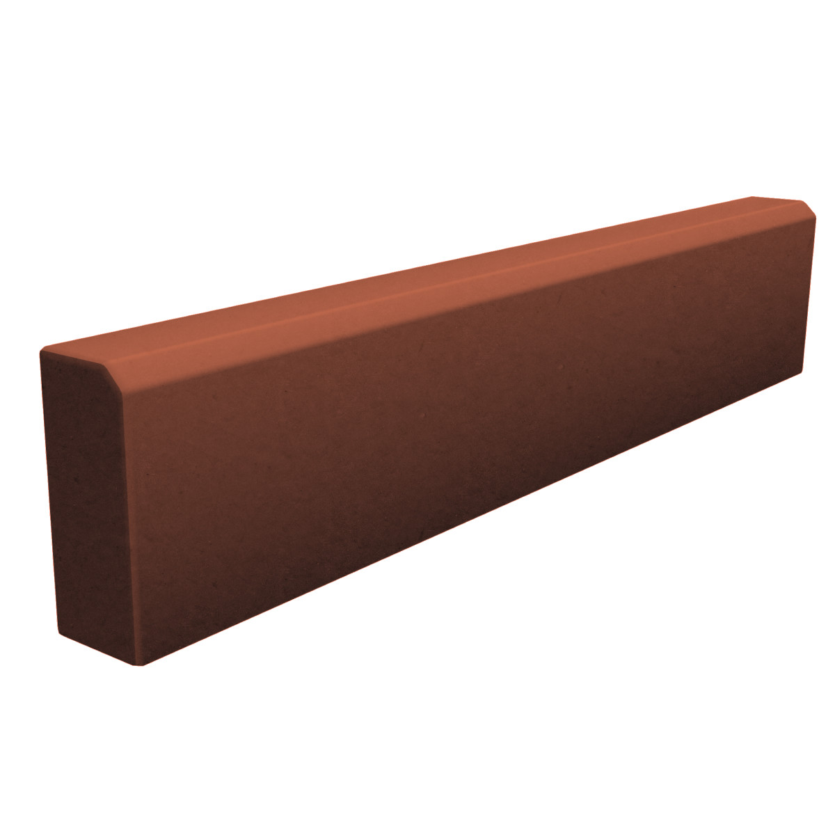 Тротуарный бордюр 1000х200х80 мм красный