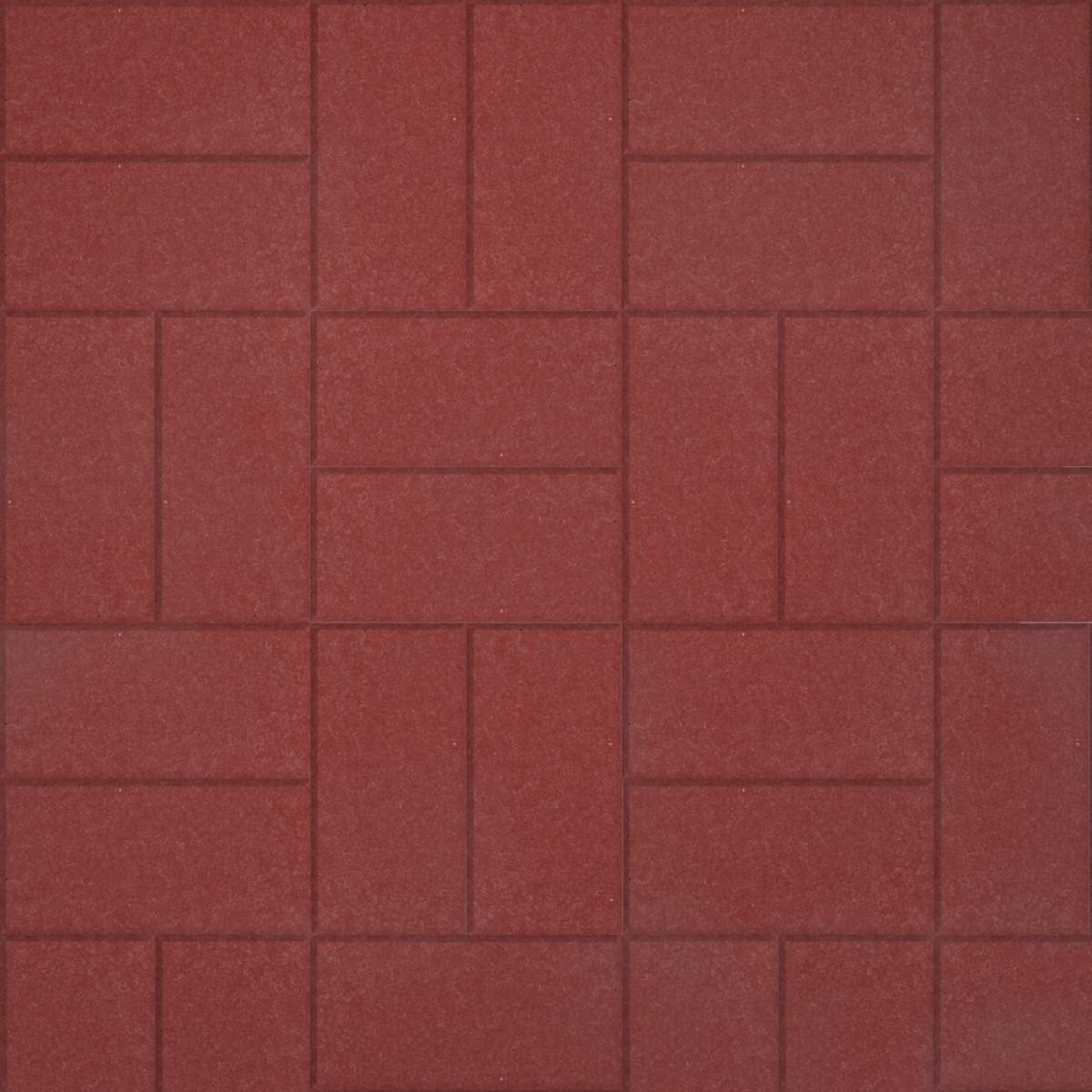 Тротуарная плитка Кирпичик 200х100х60 мм красный