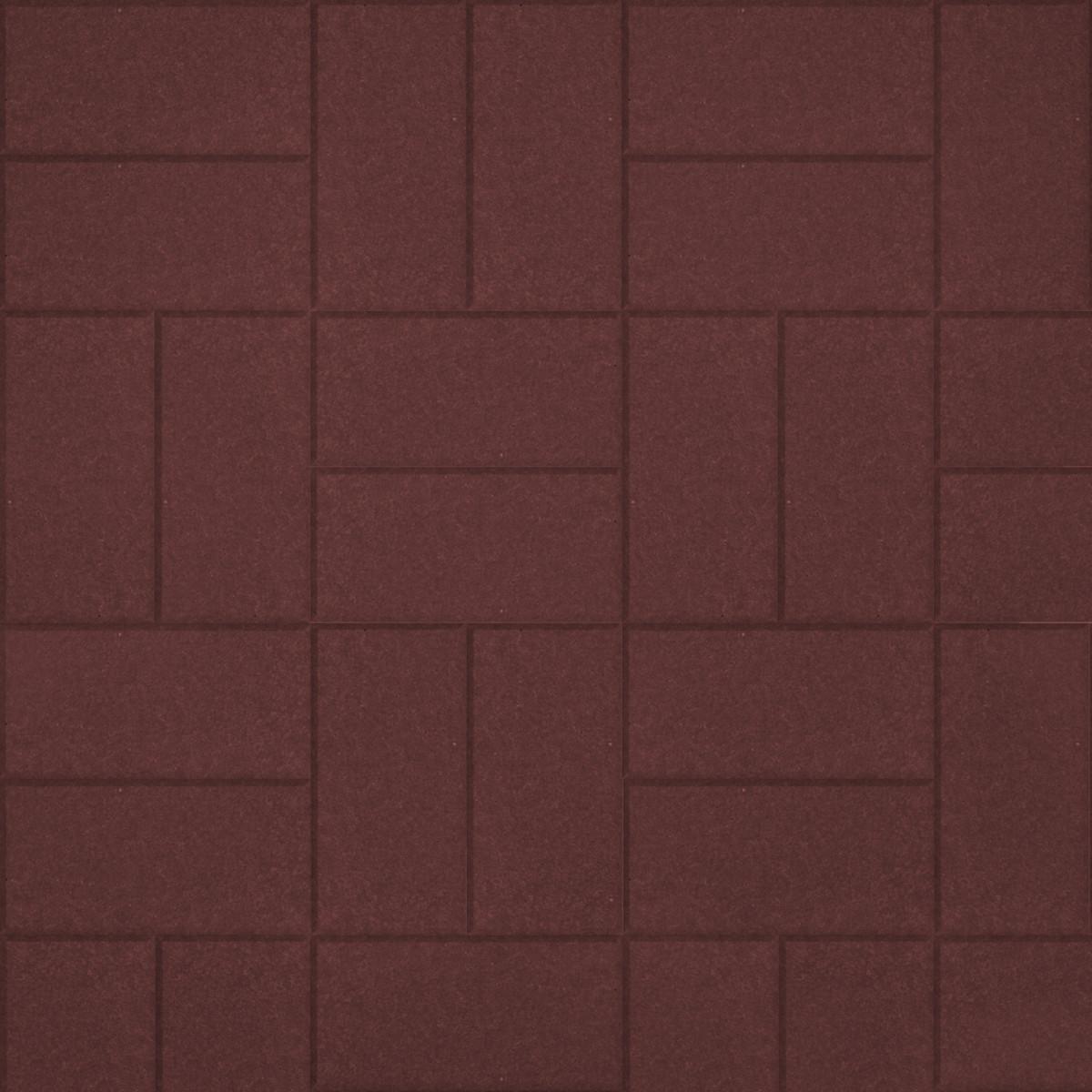 Тротуарная плитка Кирпичик 200х100х60 мм коричневый
