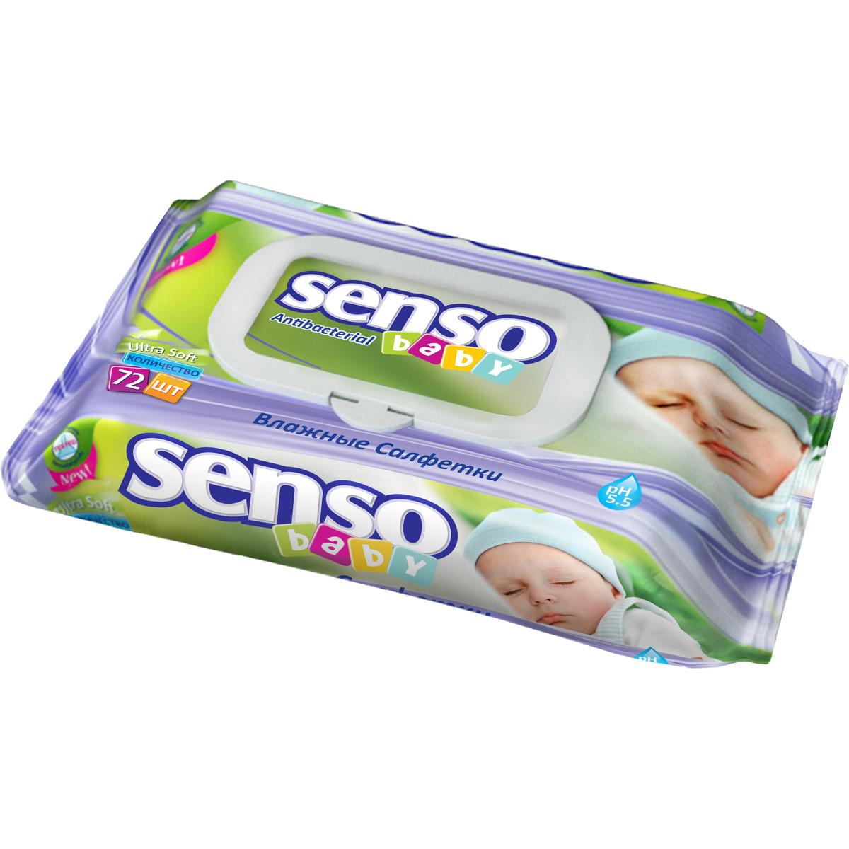 Салфетки влажные для детей Senso baby 72 шт.