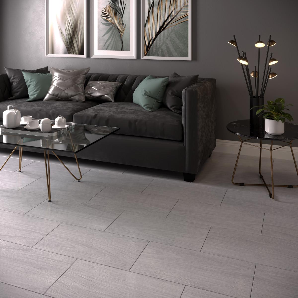 Керамогранит Legno 30х60 см 1.44 м² цвет серый
