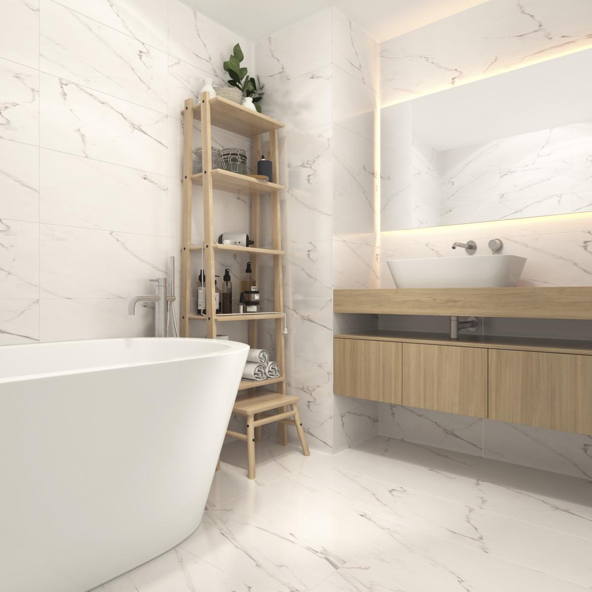 Керамогранит Futuro 30х60 см 1.44 м² цвет белый