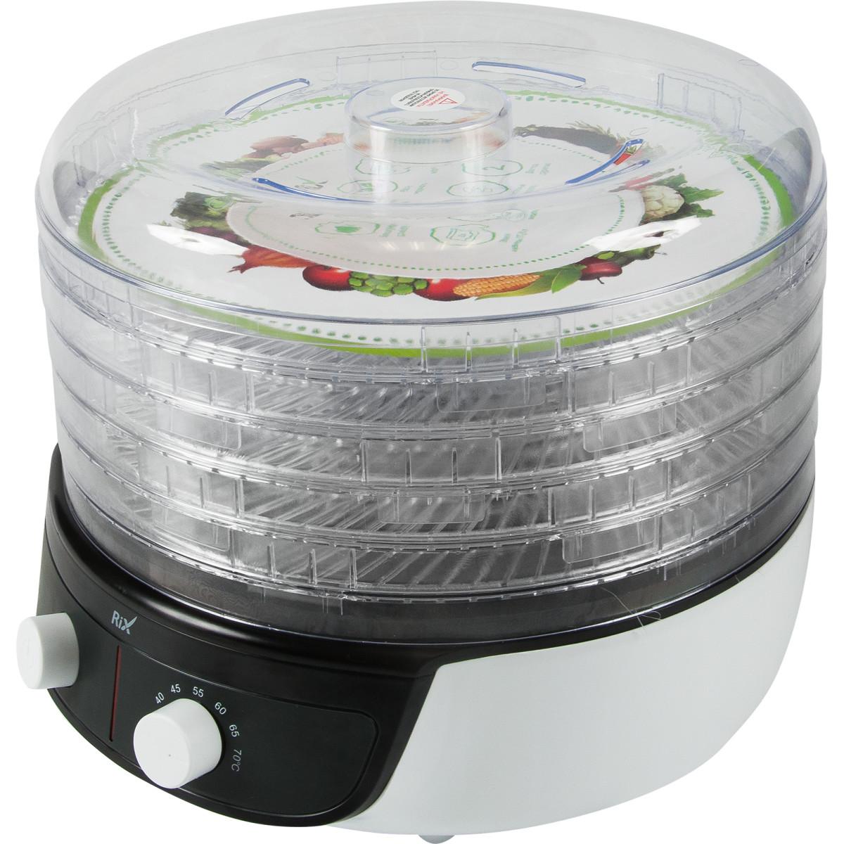 Электросушилка Для Овощей И Фруктов Rix Rxd-501 500 Вт 20 Л Регулировка Высоты И Температуры