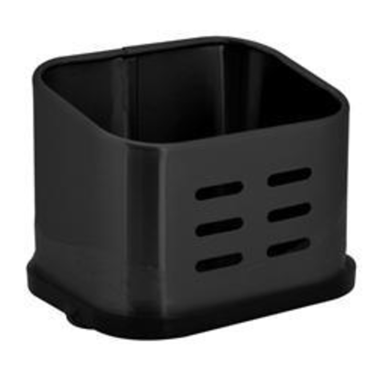 Подставка для губки 11.5х8.5х8.5 см цвет черный