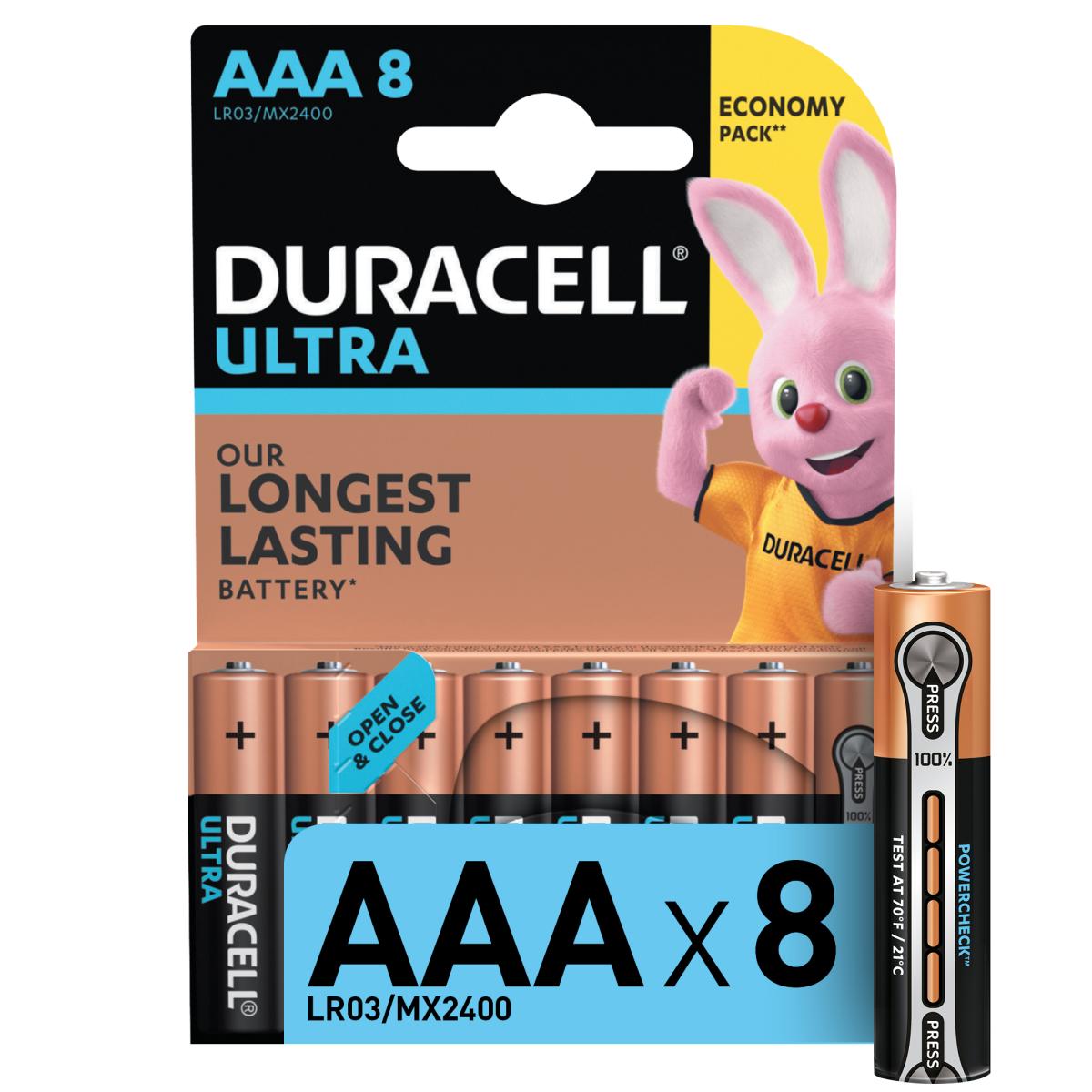 Батарейка алкалиновая Duracell Ultra AAA 8 шт.